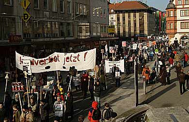 Internacionalne demonstracije Vircburg, Nemacka
